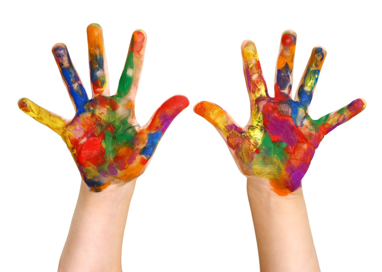 kids painted hands clay center