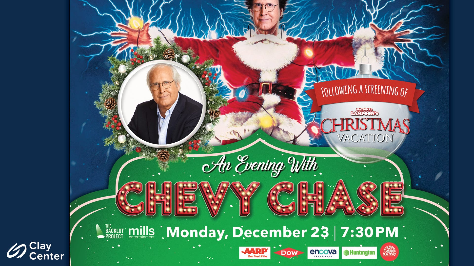 An Evening With Chevy Chase Christmas Vacation Screening Clay Center